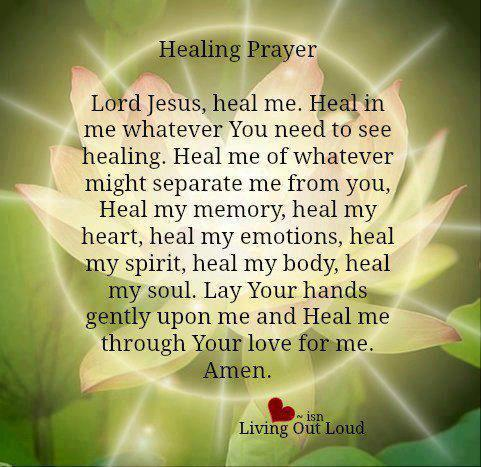 healing prayer you are the one i want